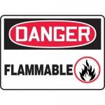 "Accuform MCHL015XV, Adhesive Dura-Vinyl OSHA Sign ""Danger Flammable"""