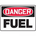 "Accuform MCHL018VA, Aluminum OSHA Sign with Legend ""Danger Fuel"""