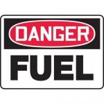 "Accuform MCHL018XV, Adhesive Dura-Vinyl OSHA Sign ""Danger Fuel"""