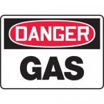 "Accuform MCHL019XV, Adhesive Dura-Vinyl OSHA Sign ""Danger Gas"""
