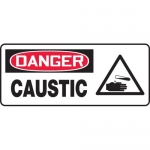 "Accuform MCHL020VA, Aluminum OSHA Sign with Legend ""Danger Caustic"""