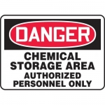 "Accuform MCHL024XV, OSHA Sign ""Chemical Storage Area Authorized…"""