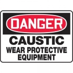 "Accuform MCHL026XV, OSHA Sign ""Caustic Wear Protective Equipment"""