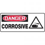 "Accuform MCHL029VA, Aluminum OSHA Sign with Legend ""Danger Corrosive"""