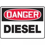 "Accuform MCHL031XV, Adhesive Dura-Vinyl OSHA Sign ""Danger Diesel"""