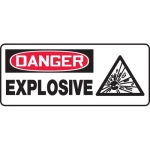"Accuform MCHL032VP, Plastic Sign with Legend ""Danger Explosive"""