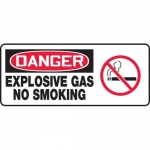 "Accuform MCHL033VA, OSHA Sign ""Danger Explosive Gas No Smoking"""