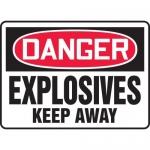 "Accuform MCHL035XP, Accu-Shield OSHA Sign ""Explosives Keep Away"""