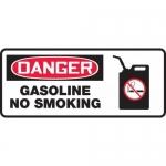 """Accuform MCHL037XL, Aluma-Lite OSHA Sign """"Gasoline No Smoking"""""""
