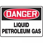 "Accuform MCHL040VA, Aluminum OSHA Sign ""Liquid Petroleum Gas"""