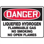 "Accuform MCHL041VA, OSHA Sign ""Liquefied Hydrogen Flammable Gas…"""