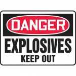 """Accuform MCHL042XP, Accu-Shield OSHA Sign """"Explosives Keep Out"""""""
