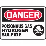 "Accuform MCHL045VA, OSHA Sign ""Danger Poisonous Gas Hydrogen Sulfide"""