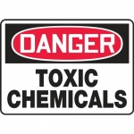 """Accuform MCHL047VA, Aluminum OSHA Sign """"Danger Toxic Chemicals"""""""