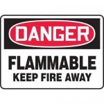 "Accuform MCHL048XL, OSHA Sign ""Danger Flammable Keep Fire Away"""