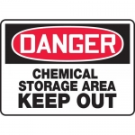"""Accuform MCHL051XL, OSHA Sign """"Chemical Storage Area Keep Out"""""""