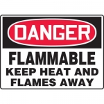 """Accuform MCHL052XV, OSHA Sign """"Flammable Keep Heat and Flames Away"""""""
