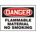 "Accuform MCHL055XL, OSHA Sign ""Danger Flammable Material No Smoking"""
