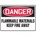 "Accuform MCHL059VA, OSHA Sign ""Flammable Materials Keep Fire Away"""