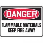 "Accuform MCHL059XL, OSHA Sign ""Flammable Materials Keep Fire Away"""