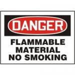 "Accuform MCHL060VA, OSHA Sign ""Danger Flammable Material No Smoking"""