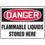 "Accuform MCHL062VA, OSHA Sign ""Danger Flammable Liquids Stored Here"""