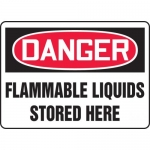 "Accuform MCHL062VS, OSHA Sign ""Danger Flammable Liquids Stored Here"""