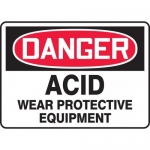 "Accuform MCHL065XV, OSHA Sign ""Acid Wear Protective Equipment"""