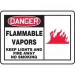 "Accuform MCHL066VA, OSHA Sign ""Flammable Vapors Keep Lights…"""