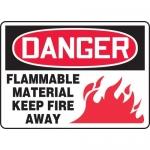 "Accuform MCHL068VA, OSHA Sign ""Flammable Material Keep Fire Away"""