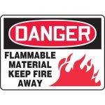 """Accuform MCHL068XL, OSHA Sign """"Flammable Material Keep Fire Away"""""""