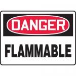 "Accuform MCHL069XV, Adhesive Dura-Vinyl OSHA Sign ""Danger Flammable"""