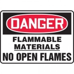 "Accuform MCHL070XL, OSHA Sign ""Flammable Materials No Open Flames"""