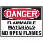 "Accuform MCHL070XV, OSHA Sign ""Flammable Materials No Open Flames"""