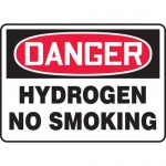 "Accuform MCHL071VA, Aluminum OSHA Sign ""Hydrogen No Smoking"""