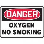 "Accuform MCHL073VA, Aluminum OSHA Sign ""Danger Oxygen No Smoking"""