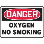 "Accuform MCHL074VA, Aluminum OSHA Sign ""Danger Oxygen No Smoking"""