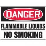 "Accuform MCHL078VA, OSHA Sign ""Danger Flammable Liquids No Smoking"""