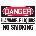 "Accuform MCHL078XL, OSHA Sign ""Danger Flammable Liquids No Smoking"""