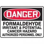 "Accuform MCHL079XT, OSHA Sign ""Formaldehyde Irritant & Potential…"""