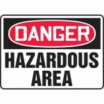 "Accuform MCHL088VA, Aluminum OSHA Sign ""Danger Hazardous Area"""