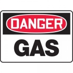"Accuform MCHL089VA, Aluminum OSHA Sign with Legend ""Danger Gas"""