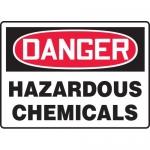 "Accuform MCHL091XT, Dura-Plastic OSHA Sign ""Hazardous Chemicals"""