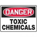 """Accuform MCHL095VA, Aluminum OSHA Sign """"Danger Toxic Chemicals"""""""