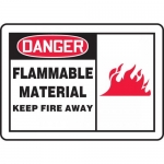 """Accuform MCHL097XT, OSHA Sign """"Danger Flammable Material Keep…"""""""
