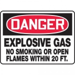 "Accuform MCHL098VA, OSHA Sign ""Danger Explosive Gas No Smoking…"""