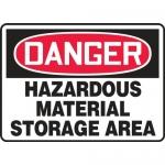 """Accuform MCHL100VA, OSHA Sign """"Hazardous Material Storage Area"""""""