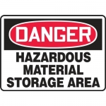 "Accuform MCHL100XL, OSHA Sign ""Hazardous Material Storage Area"""