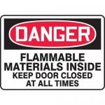 "Accuform MCHL101VA, Aluminum OSHA Sign ""Flammable Materials Inside…"""