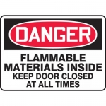"""Accuform MCHL101XP, OSHA Sign """"Flammable Materials Inside…"""""""